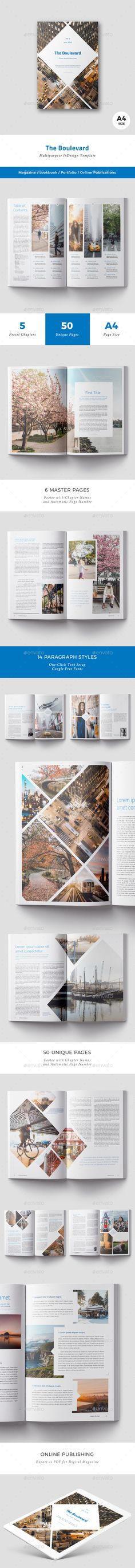 The Boulevard Magazine by ArcticBlue The Boulevard Magazine Template This image based template is here to bring a solution to your project. Change the colors, fonts or
