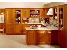 Amerian cherry Solid wood kitchen cabinet with a dining table Solid Wood Kitchen Cabinets, Kitchen Cabinets For Sale, Solid Wood Kitchens, Kitchen Cabinet Styles, American Kitchen, Liquor Cabinet, Dining Table, China, Kitchen Ideas