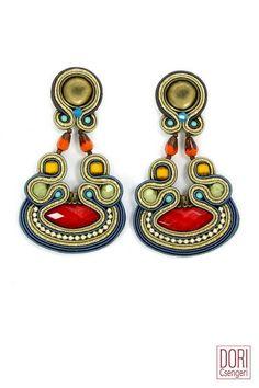 Welcome to Dori Csengeri Soutache Necklace, Floral Necklace, Boho Necklace, Beaded Earrings, Boho Jewelry, Fashion Jewelry, Jewellery, Ruby Earrings, Statement Earrings