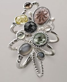 pandora stackable rings size 8 (4)