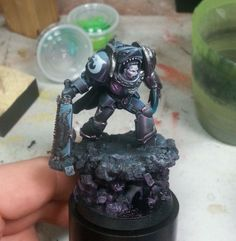 Custom Carcharodon Deathwatch Chapter Master. For a majority raw sculpt, this is brilliant
