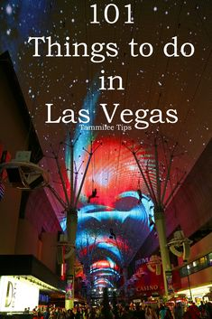 101 Things to do in Las Vegas! From cruising the strip, Vegas shows, and more! How many of these have you done in Las Vegas? via @tammileetips