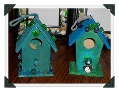 beaded birdhouses the kids made last spring