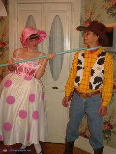 Woody and Bo-Peep - 2013 Halloween Costume Contest via @costumeworks