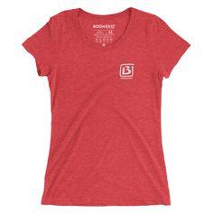 BOOMSKIZ B Square Ladies Tri-blend T-Shirt - Red