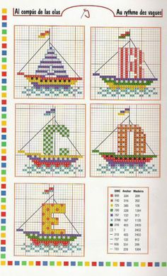cross stitch alphabet nautical sailboats letters for sails INCOMPLETE : MISSING t,u,v,w 1 of 6