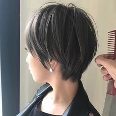 66 Chic Short Bob Hairstyles & Haircuts for Women in 2019 - Hairstyles Trends Medium Bob Hairstyles, Hairstyles Haircuts, Pretty Hairstyles, Short Hair Cuts, Short Hair Styles, Hair Arrange, Lob Hairstyle, Haircut And Color, Hair 2018