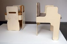 Two iterations of the Maxima chairs Clendinning designed for Race Furniture in 1965: a dining chair (left) and armchair (right).