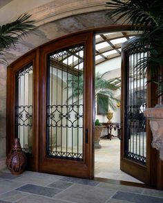 Beautiful tall arched extra wide doors