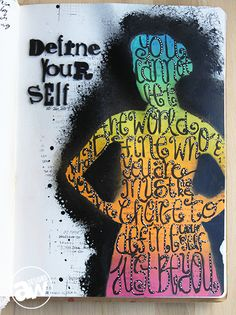 Art Journal Express #22- Define Yourself Art Journal Page - Single Page View