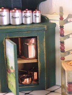 Kitchen Vignette ~ More fabulous J. Getsan copper pieces!