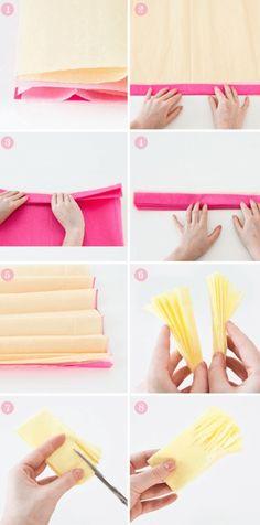 margaritas de papel de seda