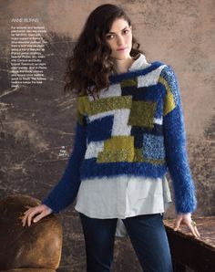 Colorblock Pullover by Anne Burns