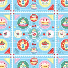 Tea Party Pattern - Emily Golden Illustration
