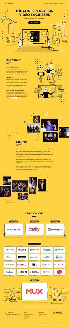 Demuxed 2020 landing page design inspiration - Lapa Ninja