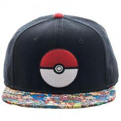 594c9eae7f19d2 Nintendo Pokemon Pokeball Snapback and Hat Pokemon Logo, Nintendo Pokemon,  Pokemon Hat, Catch