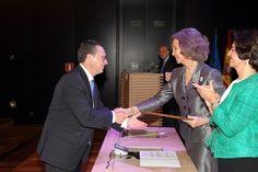 Doña Sofía entrega la Mención Especial en la Categoría de conservación, a la Torre Bofilla de Bétera (Valencia) Museo Arqueológico Nacional. Madrid, 17.04.2015