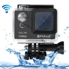 [USD68.00] [EUR63.02] [GBP48.74] PULUZ U6000 Full HD 1080P 2.0 inch LCD Screen WiFi Waterproof Multi-function Sport Action Camcorder, Novatek NT96650 Chipset, 175-degree Wide-angle Lens(Black)