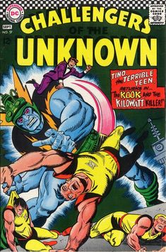 1967 Alley Award: Best Normal Adventure Group - Challengers of the Unknown  (DC Comics)