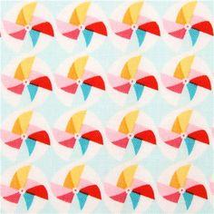 light blue pinwheel fabric Riley Blake Girl Crazy 2
