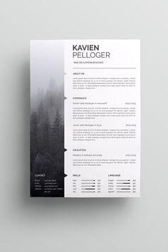 Kavien Pelloger-CV Resume Template #resume #resumeexamples #resumetemplates #curriculumvitae #format #template #cv #cvtemplate #lebenslauf #vorlagen #резюме
