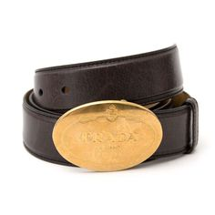 c61a00cccd00 Labellov Prada Black Saffiano Leather Belt Size 85 ○ Buy and Sell Authentic  Luxury