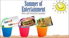 You should enter GFS Marketplace Summer of Entertainment. There are great prizes and I think one of us could win!