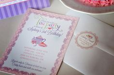Tea Party Invitation - Afternoon Tea - Cup of Tea - Custom Printable Birthday Invitation