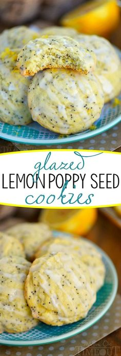 Lemon lovers look no further for your new favorite lemon dessert! These Glazed Lemon Poppy Seed Cookies are the perfect combination of sweet and tart! An exceptionally easy cookie recipe that you're going to LOVE!