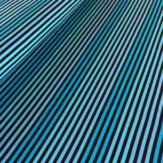 Cotton Knit - Stripes 5 mm - Turquoise