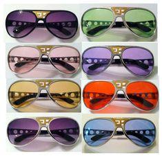 13a124b14d Elvis Sunglasses Aviator With Trade Mark Ep Multi Colors