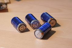 DIY - Completed Solar Rechargeable Batteries by etunKo, via Flickr