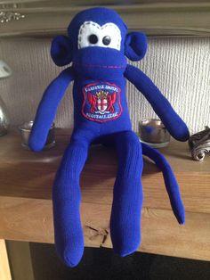 Carlisle united sock monkey Carlisle United, Monkey, Socks, The Unit, Jumpsuit, Monkeys, Sock, Stockings, Ankle Socks