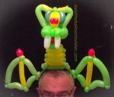 Balloon dragon hairband inspired by Jeff Hayes & Alberto Nava.