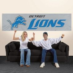 NFL Detroit Lions Giant 8 Foot Banner