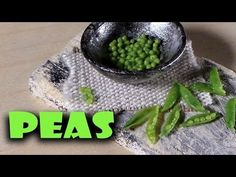 Easy; Miniature Peas & Pods - Polymer Clay Tutorial - YouTube