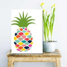 Pineapple • Wall Art • by I Make Jelly