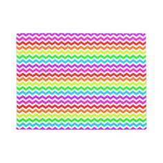 #Rainbow chevron doormat - #doormats #home & #living
