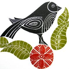 another pretty linocut print