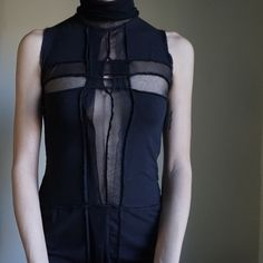 Jean Paul Gaultier Fuzzi mesh panel dress Please read my latest rules (listing at the top of my  closet). ------- Amazing dress. No flaws that I can find. Soft cotton material with mesh panels. Size M. True to size. MAKE REASONABLE OFFERS. Jean Paul Gaultier Dresses Midi