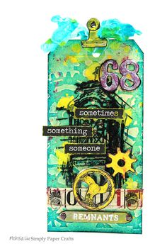 Meihsia Liu Simply Paper Crafts Mixed Media Tag tim holtz 600