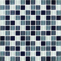 """#Interceramic - Interglass Shimmer Blends Shadow 1"""" x 1"""" Mosaic"""