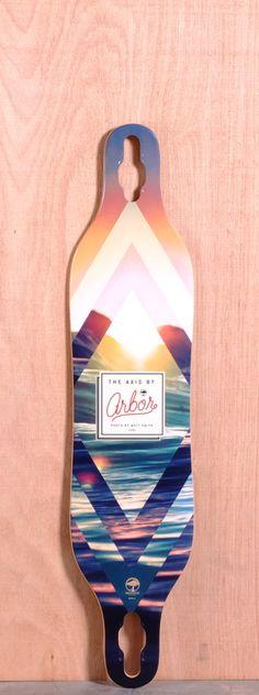 "Arbor 40"" Axis Longboard Deck - Koa"