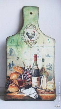 I love this cutting board. Decoupage Vintage, Decoupage Art, Diy Cutting Board, Glass Cutting Board, Wood Burning Crafts, Wood Crafts, Tole Painting, Painting On Wood, Shabby Chic Farmhouse