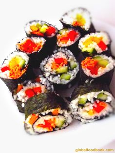 AWESOME Salmon and Vegetable Sushi Recipe