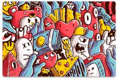 Laptop skin Laptop Skin, Doodles, Colorful, Fictional Characters, Art, Art Background, Kunst, Performing Arts, Fantasy Characters