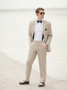 Beach Wedding Inspiration: Beach wedding Groom attire Photo by Jamie Lee Photography