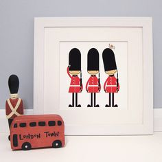 three little soldiers print by milly bee | notonthehighstreet.com