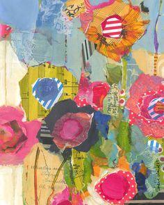 wildflowers original painting by ShelliWalters on Etsy