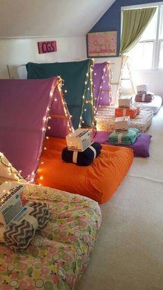 Sleepover tents!                                                                                                                                                                                 More